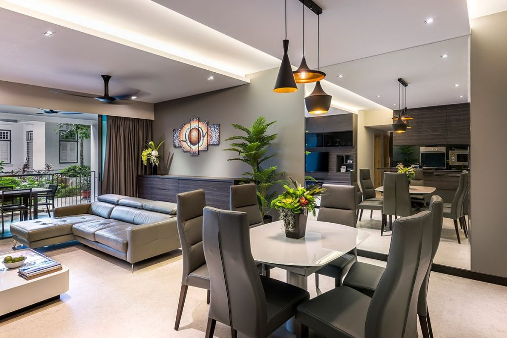 Singapore condominium interior design at the grand duchess for Residential interior designs