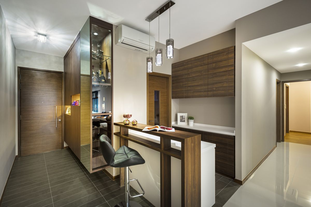 Interior design for the minton condominium in hougang for Condo ceiling design