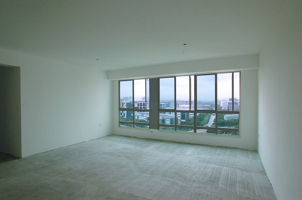 residential interior design skyline II site image living area