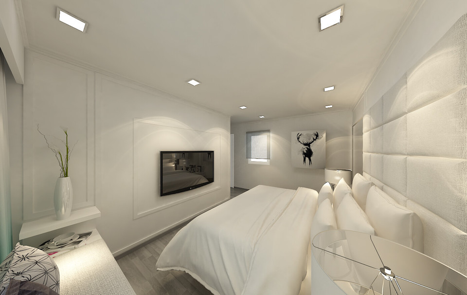 residential interior design skyline II master bedroom 2