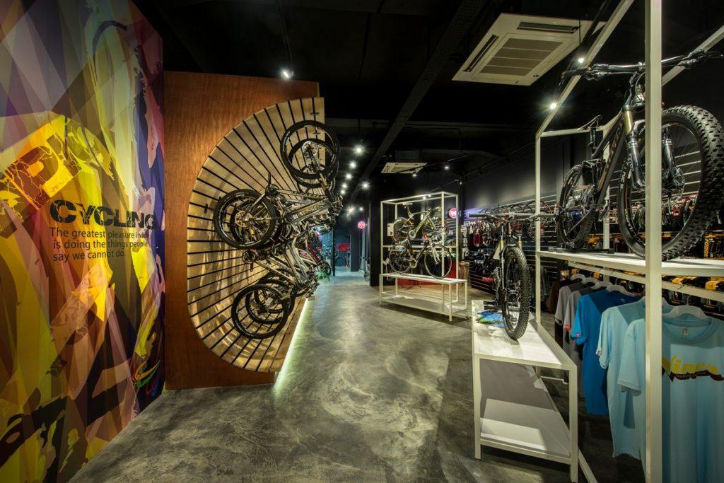 Retail Interior Design For Bike Retailer Byx In Singapore
