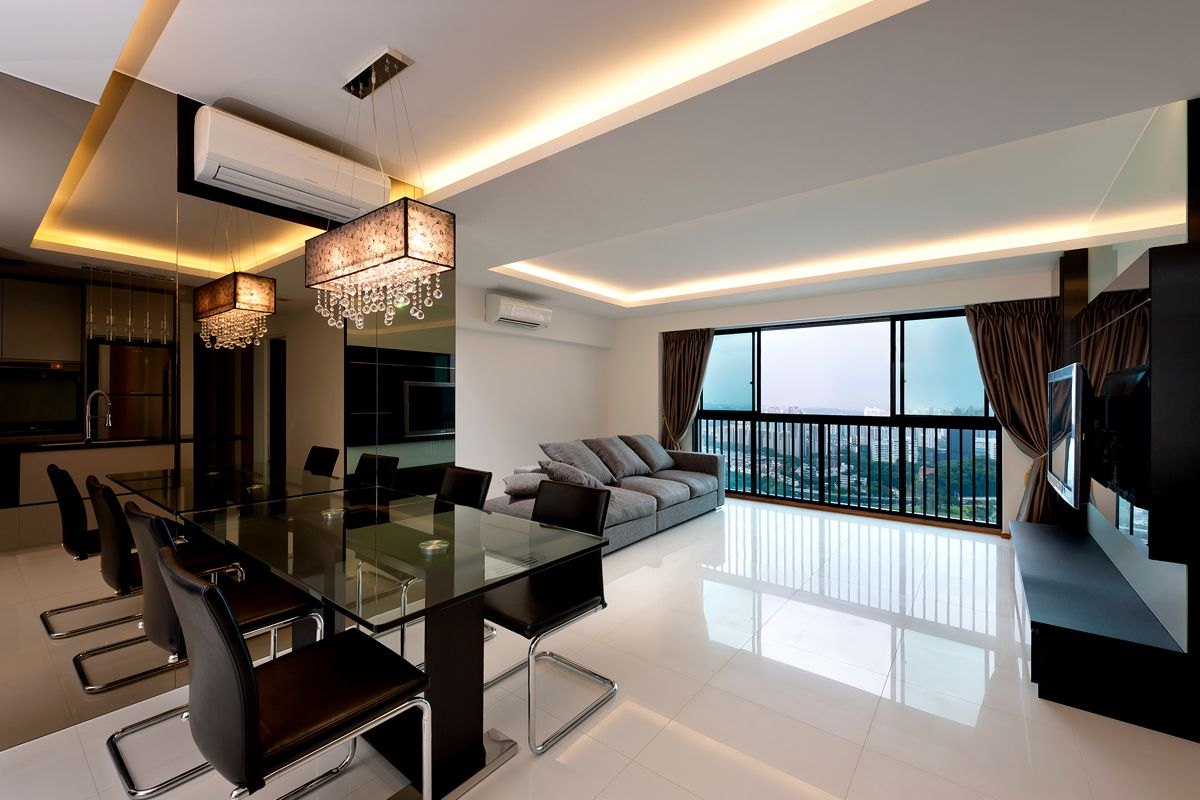 Home interior design for kim yam heights by home guide design for Condo ceiling design