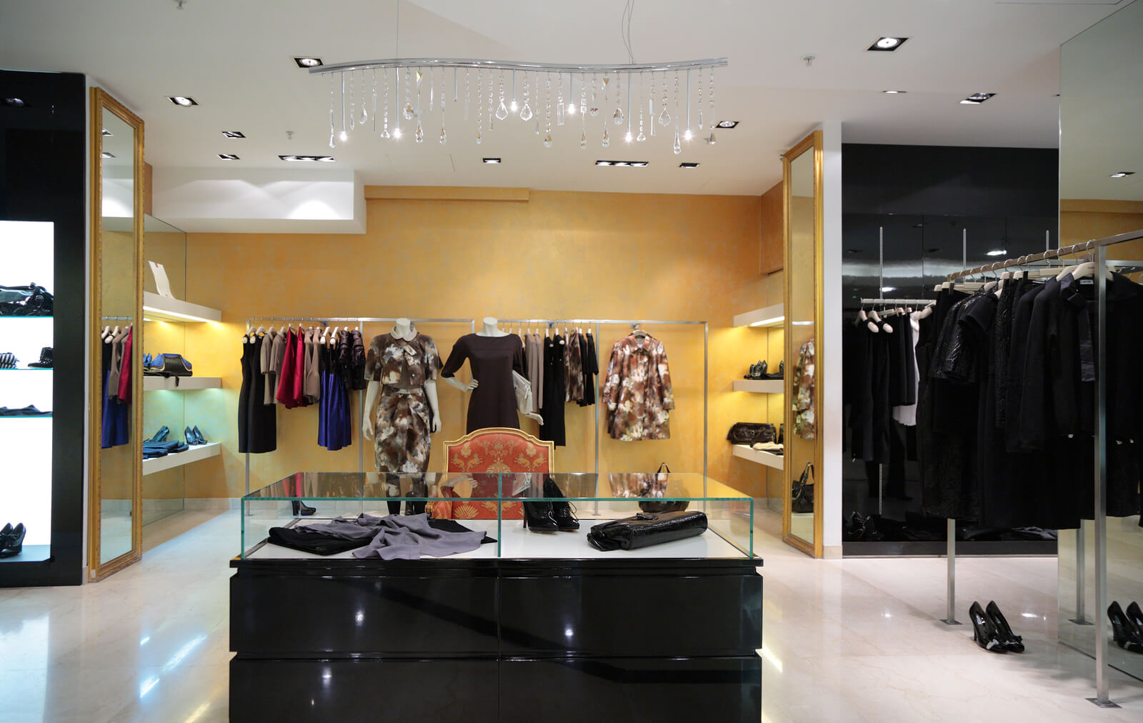 retail interior design layout