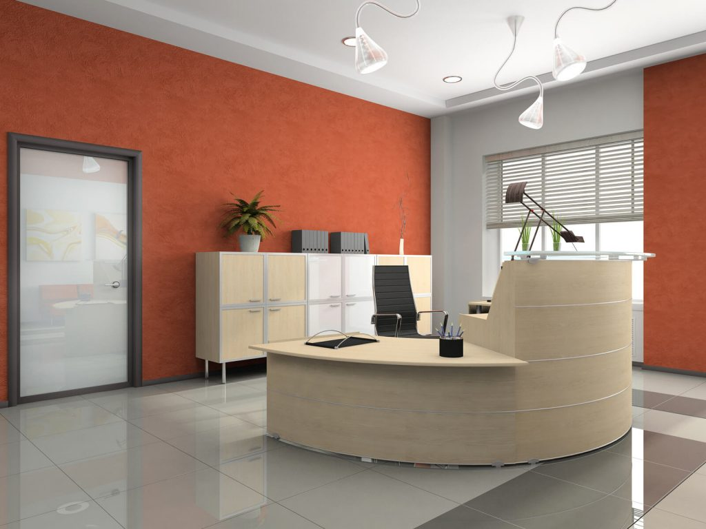 How to better the reception area of your office interior for Office design 3d