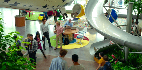5 Things We Learned About Office Interior Design From 'The Internship' - Large Communal Spaces