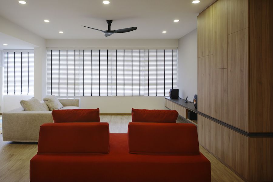 Bedok Court Home Interior Design Singapore Living Room Sofa