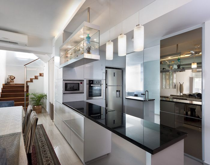 Modern and Functional HDB Kitchen - Wood or Metal
