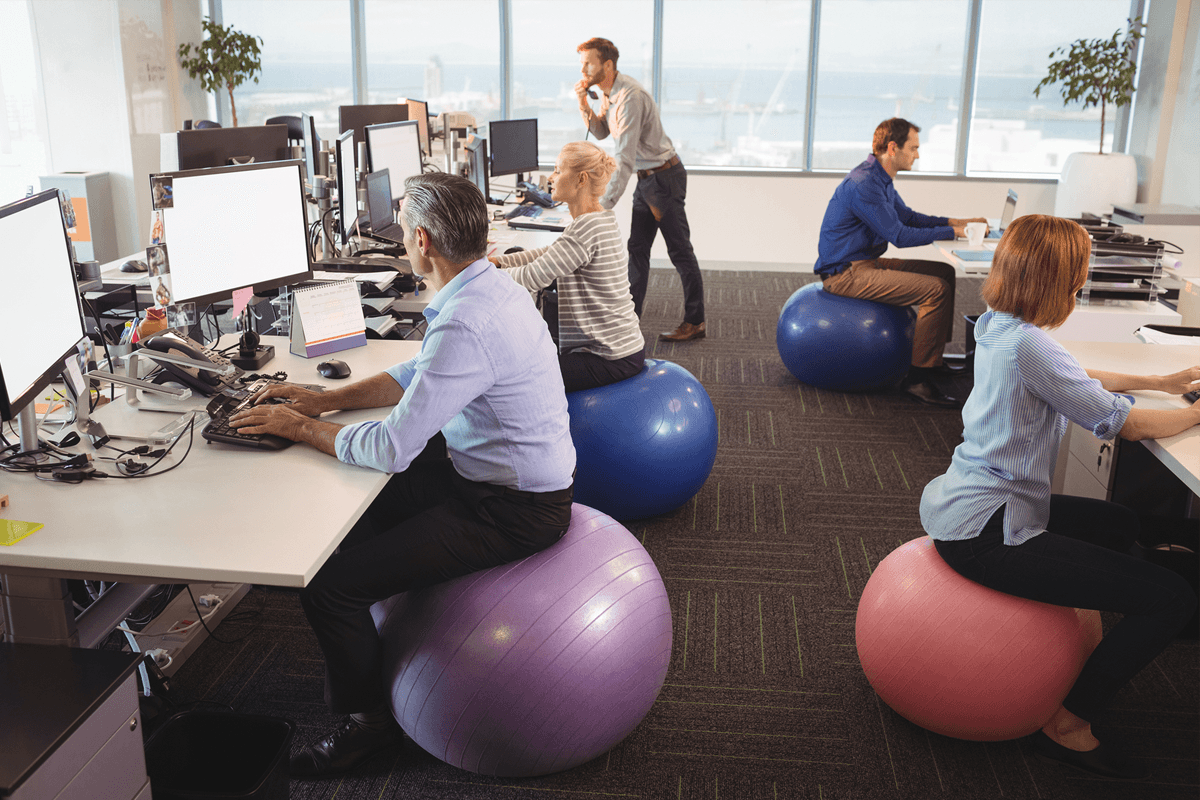 Encourage Exercise in the Office Through Furniture Selection and Smart Design Choices