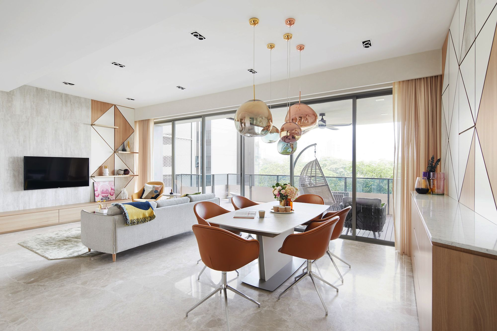 Clean, Scandinavian Chic for the Art Lovers at Leedon Residence