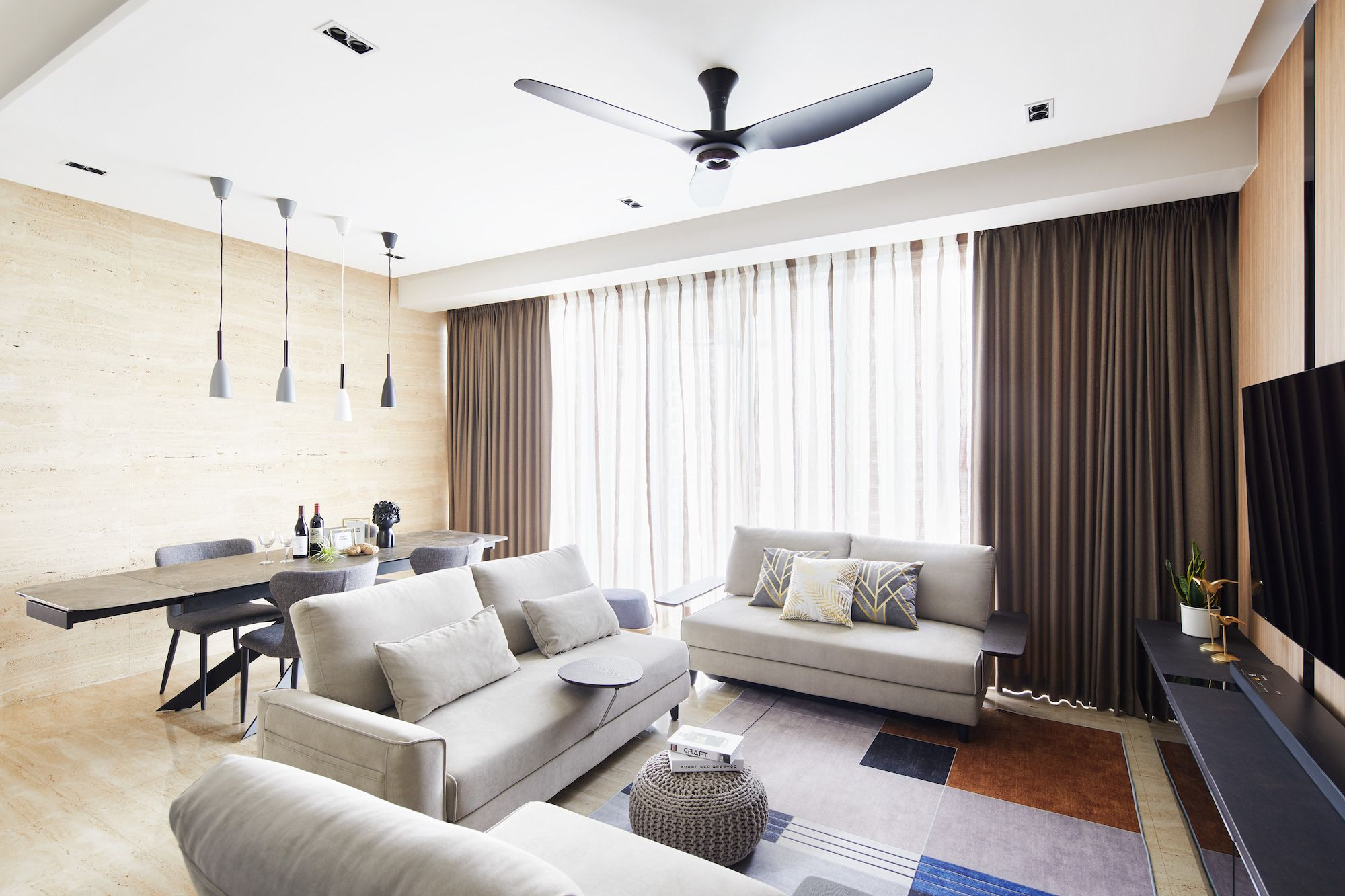 Inspiring and Modern Condominium Interior Design at the Cyan