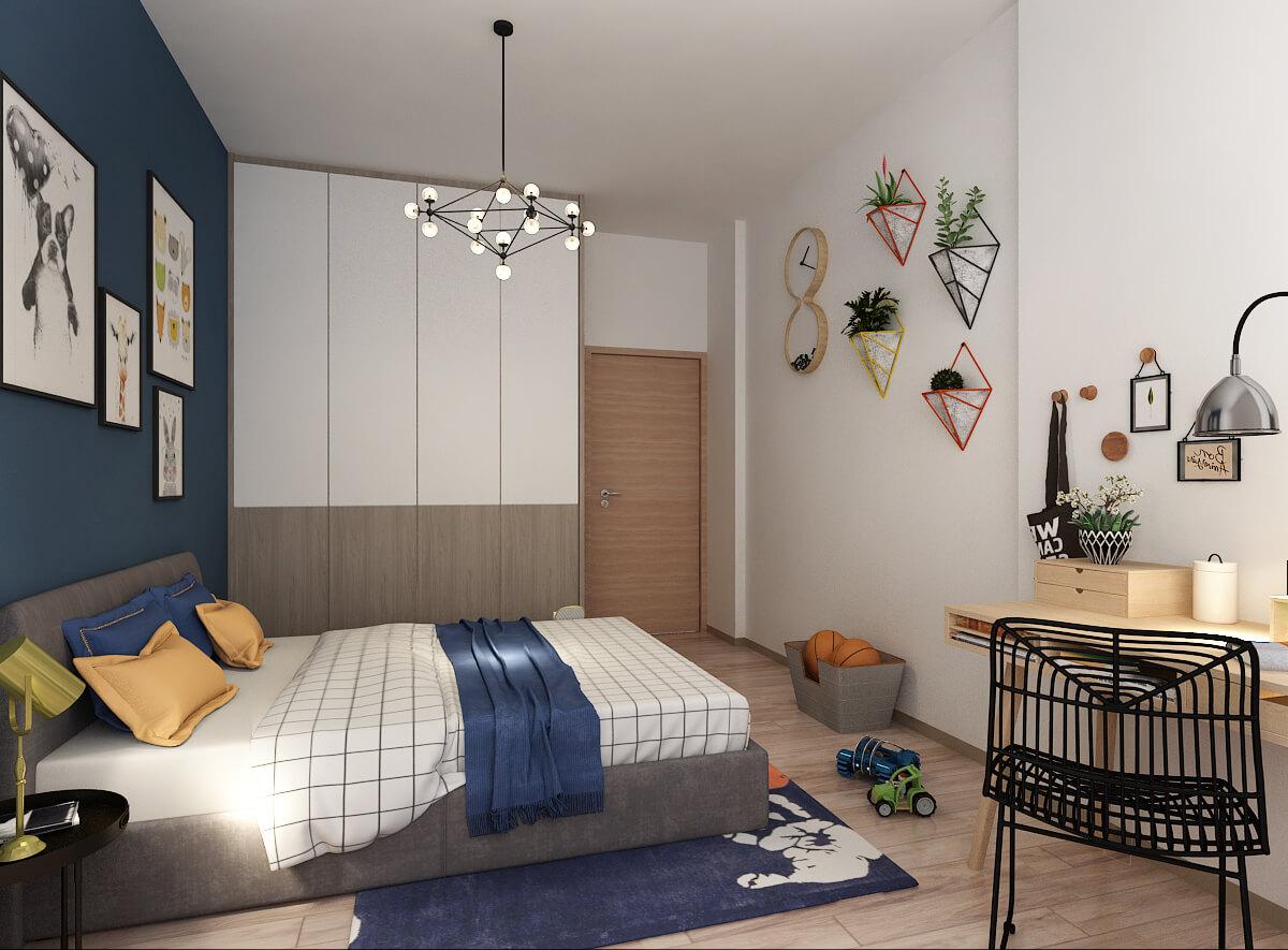 2 Room BTO model of a bedroom