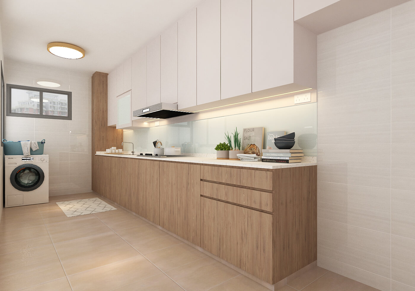 2 Room BTO model of a Kitchen