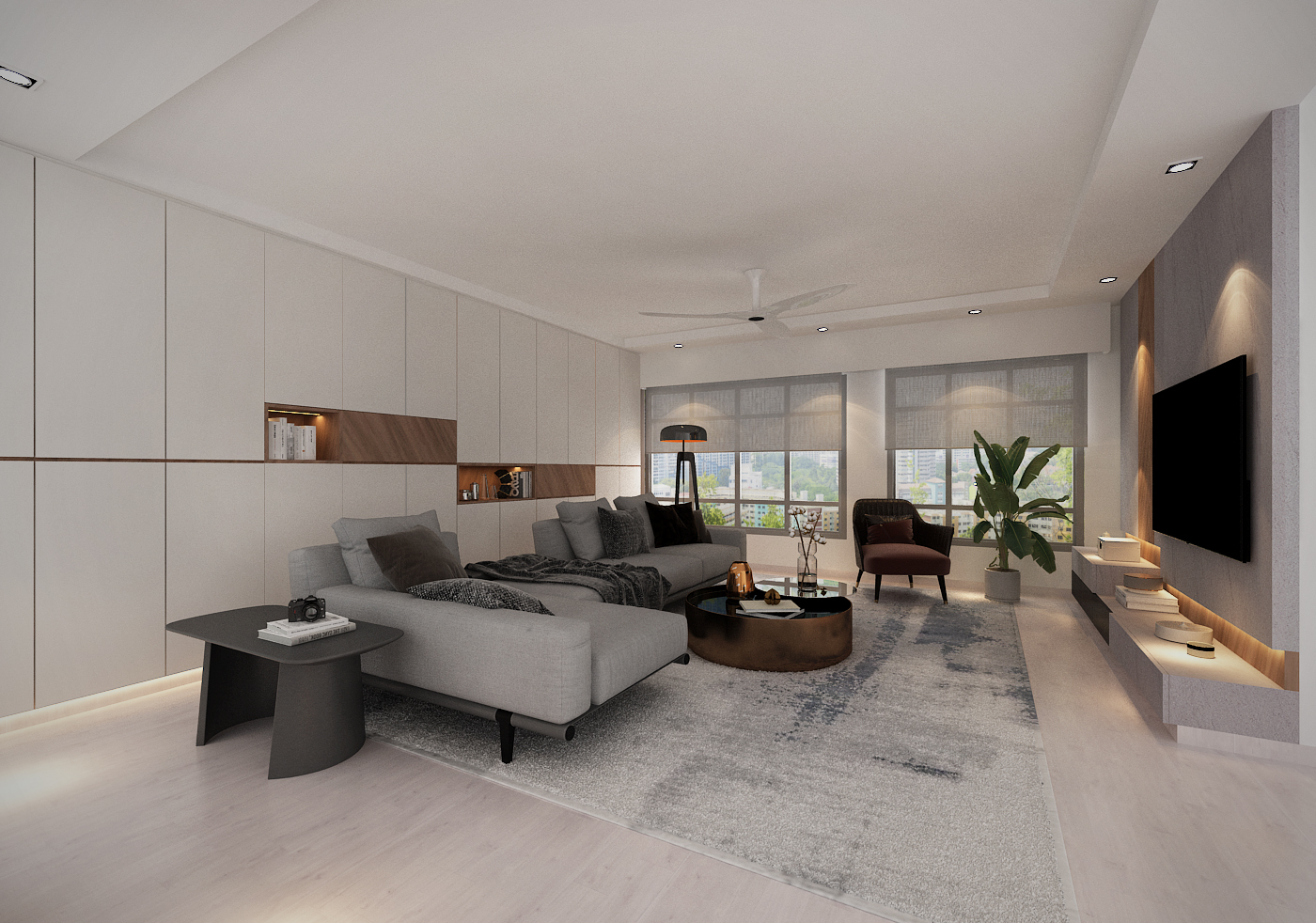 Northshore Straitsview 5 Room Bto Flat Interior Design Idea